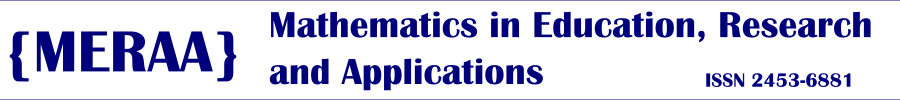 Mathematics in Education, Research and Applications, MERAA online - banner